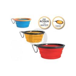 Collapsable orange pet bowl