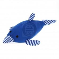 Blue stuffed dolphin