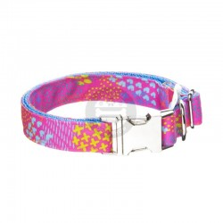April & June Pink Neon collar