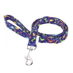 April & June Blue Dinos Leash