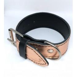 MOMO  leather collar, pink M