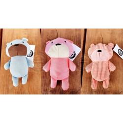 Stuffed bear in two colors